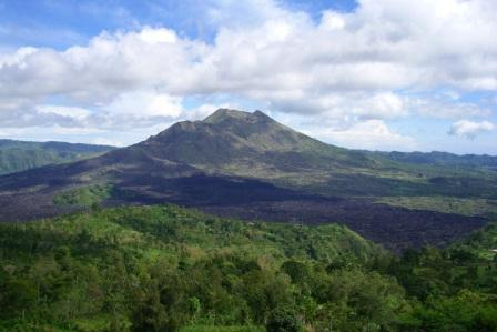 batur volcano