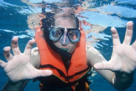 greg snorkeling