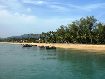 the beach at Koh Samui