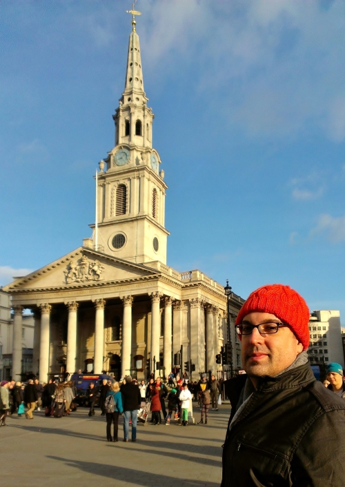 New Orange Hat takes a trip to Trafalgar Square